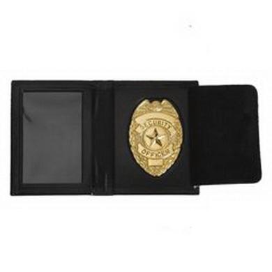Penìženka kožená se zlatým odznakem SECURITY OFFICER