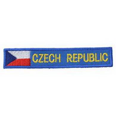 Nášivky CZECH REPUBLIC modrá s vlajkou