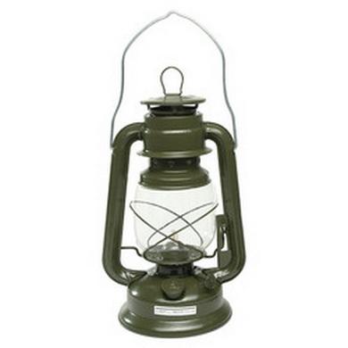 Petrolejová lampa - oliv, 28 cm