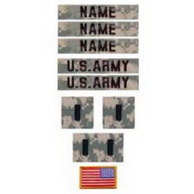 Nášivky U.S ARMY sada 10ks VELCRO ACU