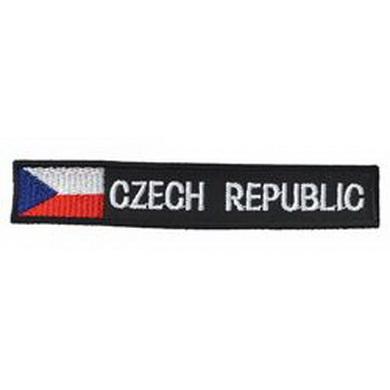 Nášivky CZECH REPUBLIC èerná s vlajkou