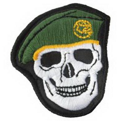 Nášivka LEBKA  zelený baret