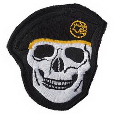 Nášivka LEBKA èerný baret