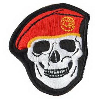 Nášivka LEBKA èervený baret
