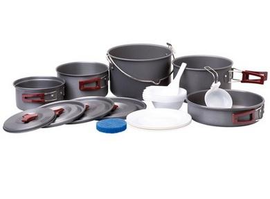 Nádobí Providus - sadá campingového nádobí pro 6-7 osob Elox. ALU