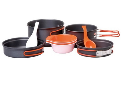 Nádobí Providus - sadá campingového nádobí pro 3-4 osob Elox. ALU