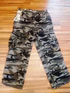 Dìtské kalhoty woodland - šedý