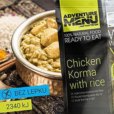 Kuøe Korma s rýží - ADM sterilizované hotové jídlo
