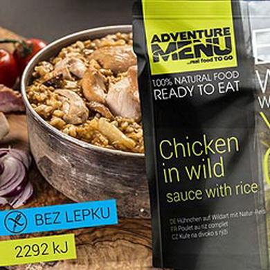 Kuøe na divoko s rýží - ADM sterilizované hotové jídlo