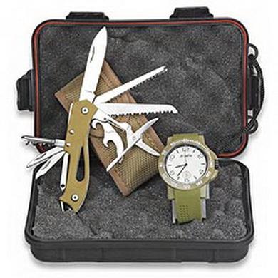Set multifunkèního nože a hodinek v plastovém boxu