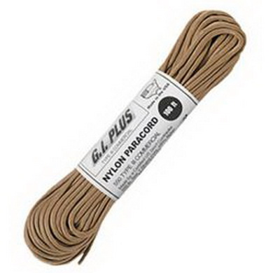 Šòùra PARACORD nylon 550LB 30m 4mm TAN