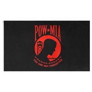 Vlajka POW/MIA ÈERNO-ÈERVENÁ