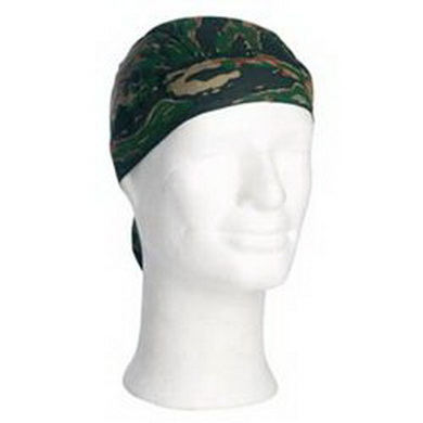 Šátek HEADWRAP TIGER STRIPE GREEN
