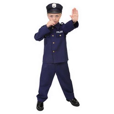 Komplet kostým POLICISTA dìtský MODRÝ