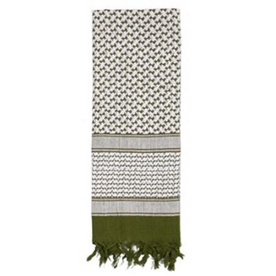 Šátek SHEMAG 105 x 105 cm ZELENÝ/BÍLÝ