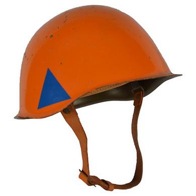 Helma civilní obrany ocelová použitá ORANŽOVÁ - zvìtšit obrázek