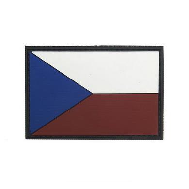 Nášivka vlajka ÈR barevná plast VELCRO 8x5cm