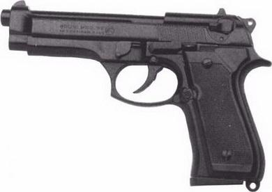 Plynová pistole Bruni 92 èerná cal.9mm