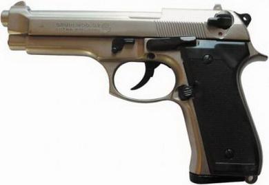 Plynová pistole Bruni 92 chrom cal.9mm