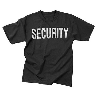 Triko s reflexním potiskem SECURITY ÈERNÉ - zvìtšit obrázek