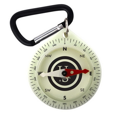 Kompas PATHFINDER s karabinou GLO - svítící