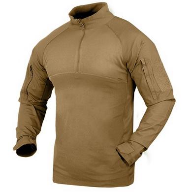 Košile taktická COMBAT se zipem TAN