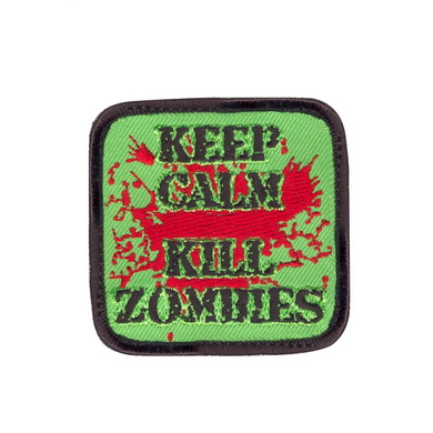 Nášivka KEEP CALM KILL ZOMBIES velcro