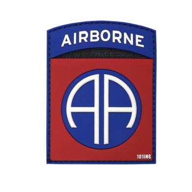 Nášivka 3D plastová AIRBORNE 82nd BAREVNÁ