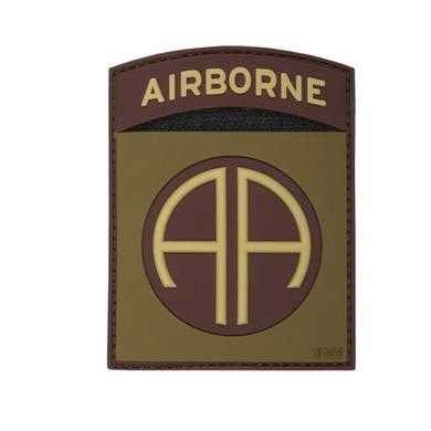 Nášivka 3D plastová AIRBORNE 82nd COYOTE