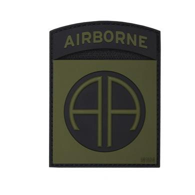 Nášivka 3D plastová AIRBORNE 82nd ZELENÁ