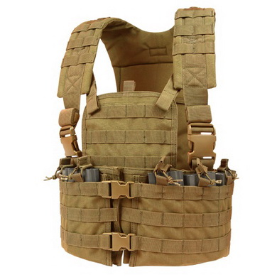 Vesta taktická MOLLE CHEST SET COYOTE BROWN