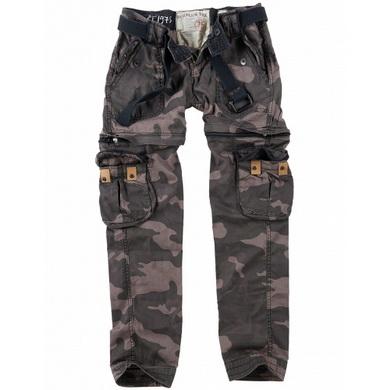 Kalhoty dámské TREKKING PREMIUM BLACK CAMO