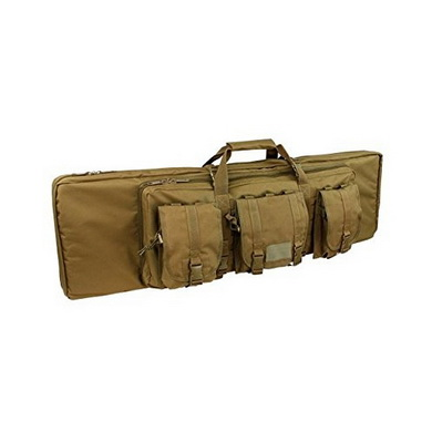 Taška na pušku 105 cm se 3 kapsami a popruhem COYOTE