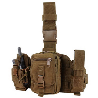 Panel stehenní MOLLE s pouzdry COYOTE BROWN