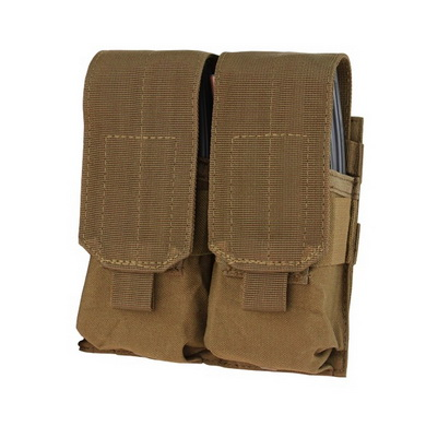 Sumka MOLLE dvojitá na zásobníky M4 COYOTE BROWN