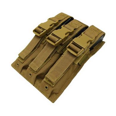 Sumka MOLLE trojitá na zásobníky MP5 COYOTE BROWN