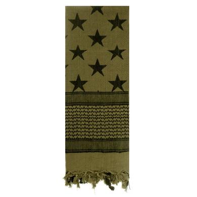 Šátek SHEMAGH vlajka USA - hvìzdy a pruhy ZELENÝ