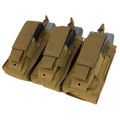 Sumka MOLLE na zásobníky 3xM16+3xM9 COYOTE BROWN