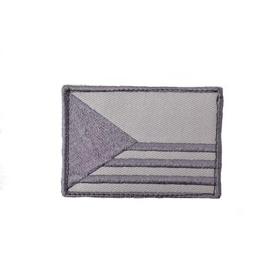 Nášivka VLAJKA ÈR PRUHY 7,5 x 5,5cm velcro ŠEDÁ