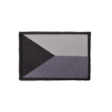 Nášivka VLAJKA ÈR velcro 7,5 x 5,5cm ŠEDÁ