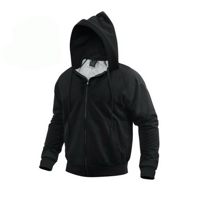 Mikina s kapucí THERMAL se zipem ÈERNÁ
