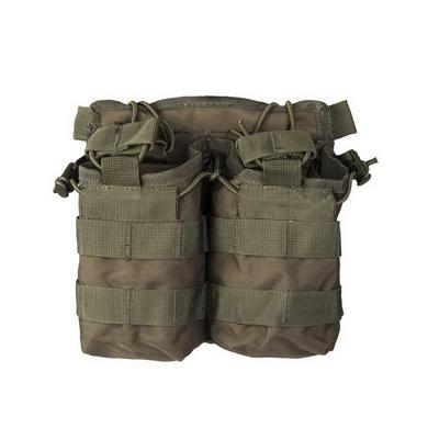 Sumka na zásobník otevøená dvojitá M4/M16 ZELENÁ