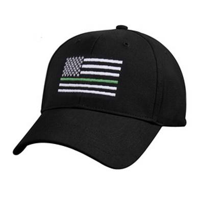 Èepice US vlajka se zelenou linkou ÈERNÁ