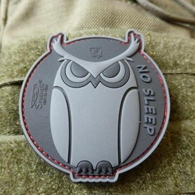 Nášivka SPECIAL OPS OWL plast velcro ÈERNÁ