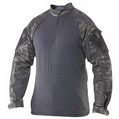 Košile taktická COMBAT TRU 1/4 ZIP MULTICAM BLACK