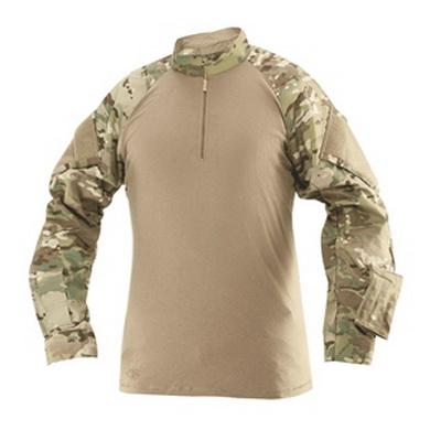Košile taktická COMBAT TRU 1/4 ZIP MULTICAM/HNÌDÁ