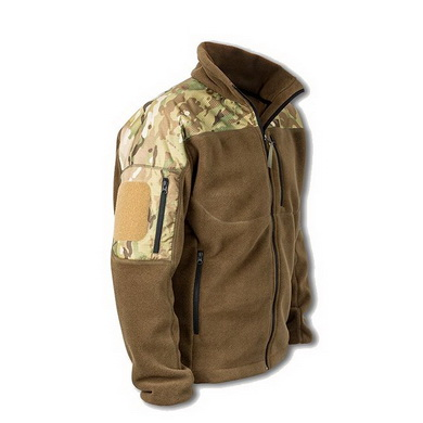 Bunda fleece RAVEN s rameny MULTICAM