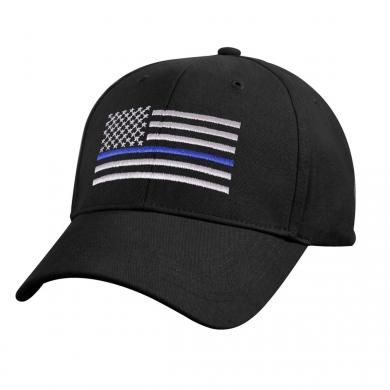 Èepice dìtská US vlajka s modrou linkou ÈERNÁ
