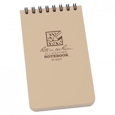 Blok vodìodolný RITE IN THE RAIN Notebook malý DESERT