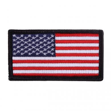 Nášivka US vlajka 4,5 x 8,5 cm ÈERNÝ lem